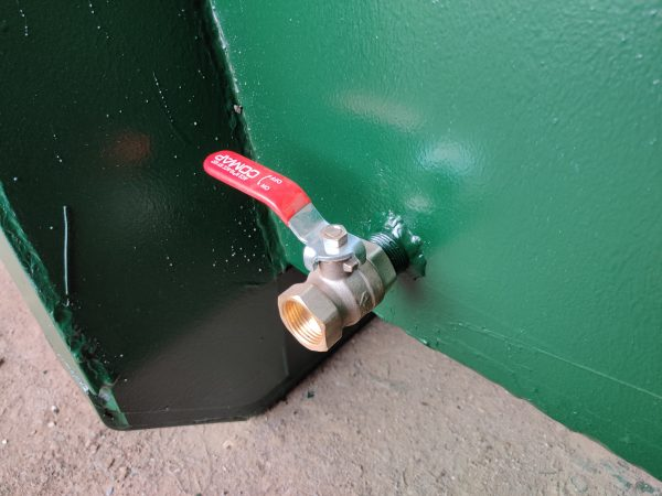 aftapkraan vloeistofdichte container